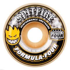 Колеса Spitfire Formula Four Conical Yellow & Grey 54mm 99D